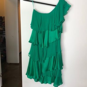 NWT Halston Heritage One Shoulder Short Dress